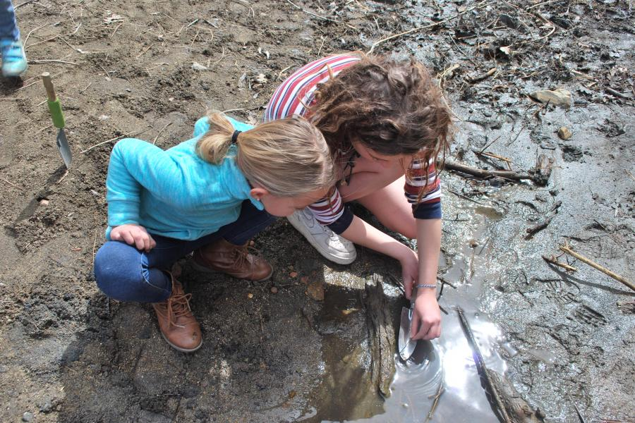 Prescott College Education Program - Kids Playing in Puddle